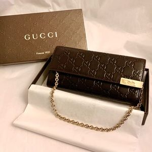 GUCCI Guccissima Leather WOC Wallet on Chain